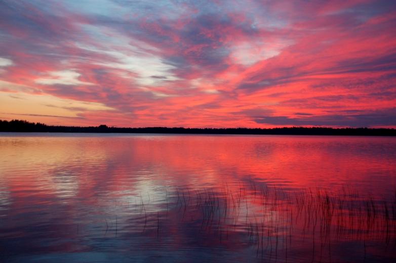 Sunset (or rise?) over Nummijärvi