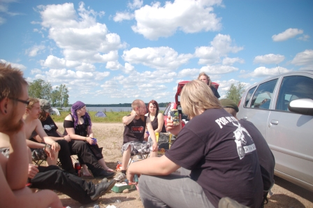 Our lake side camp @ Nummirock 2010